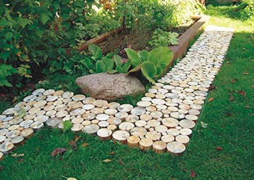 Holzweg für die Gartenterrasse verbunden mit einem Gitter | Abmessungen 80x40cm (0,32 m2)