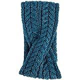Aran Woollen Mills Super Soft Merino Wool Crossover Headband, Irish Sea Colour