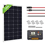 ECO-WORTHY 120 Watts 12 Volts Solar Starter Kit: 120W Monocrystalline Solar Panel +...