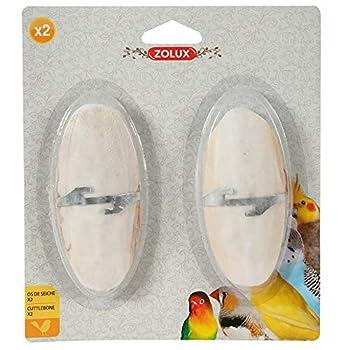 Zolux Pack de 2 Os de Seiche/Support pour Oiseau