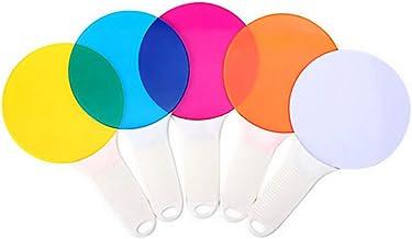 iplusmile 1 Set Kleur Correctie Verlichting Gel Filter met Handvat ABS Plastic Gekleurde Overlays Plastic Film Sheet Kids ...