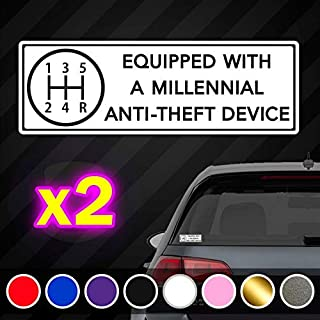 CECILIAPATER Millennial Anti-Theft Device Funny Vinyl Decal Set