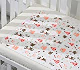 Liveinu Protector de colchón impermeable para cuna antideslizante y duradero impermeable para cuna o cama de 78 x 58 pulgadas alce