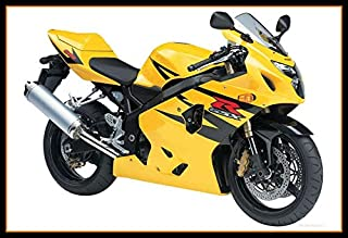 Ceramicszb Yellow Black Motorcycle Complete Fairings For Suzuki K4 GSXR600 GSXR750 Year 2004 2005 GSXR-600 GSXR-750 04 05 ABS Plastic Injection Bodywork Cowlings