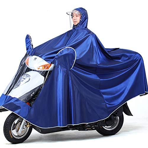 Electric Mobility Scooter Motorfiets Grote Rain Cape Coat, Om Te Fietsen, Hardlopen, Unisex - Hooded Compact Rain Cape,Blue,4XL