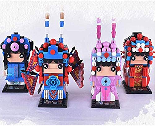 YTO 3D Doll Assembly Model Chinese Opera Character Decoraciones Pequeños Bloques de construcción-mi