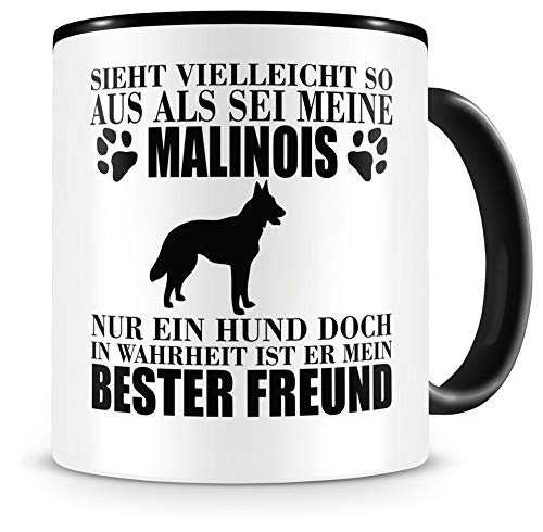Samunshi Malinois mein Beste Freund - Taza de café, diseño de perro
