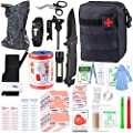 "SUPOLOGY Emergency Survival First Aid Kit, 135-In-1 Trauma Kit with Tourniquet 36"" Splint, Military Combat Tactical IFAK EMT for First Aid Response, Disaster Home Outdoor Camping Emergency Kit"