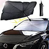 Ellis Kas Car Windshield Sun Shade, Blocking UV Ultraviolet Rays, Heat Insulation Protection, Folding Umbrella Sun Shade, Sturdy and Durable, for Keep The Car Cool in Summer (Size: 57 x 31 in)