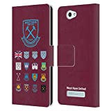 Official West Ham United FC Pattern 2 Crest History Leather