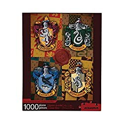 Hogwarts Puzzle with image of the four Hogwarts House Crests