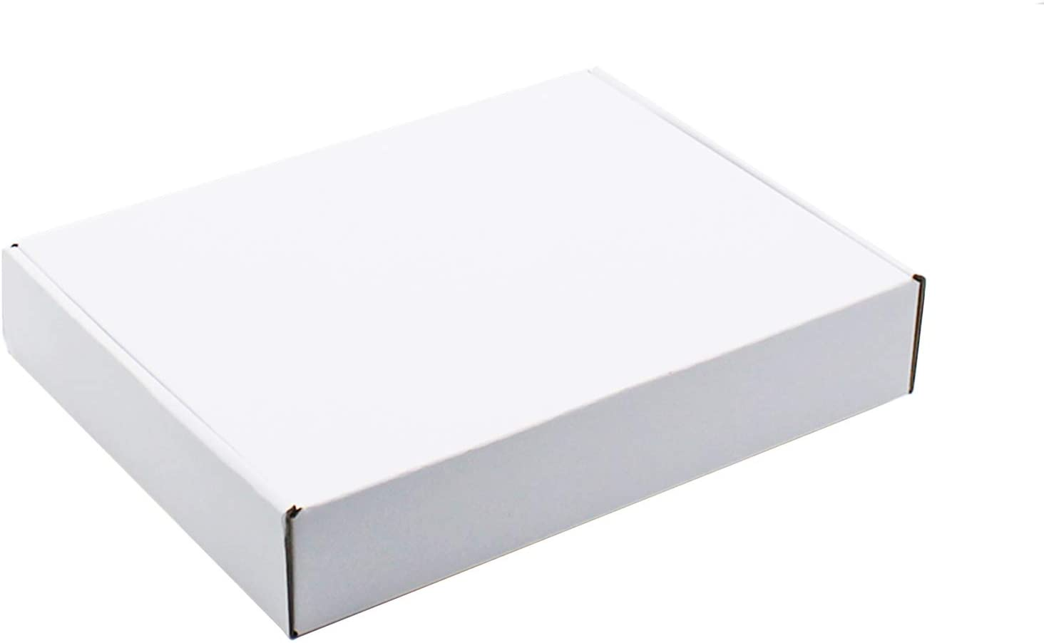 11x8x2 inches Shipping Boxes, White Corrugated Cardboard Box Mailer Boxes for Shipping Gift Boxes for Mailing 25 Pcs (11X8X2)