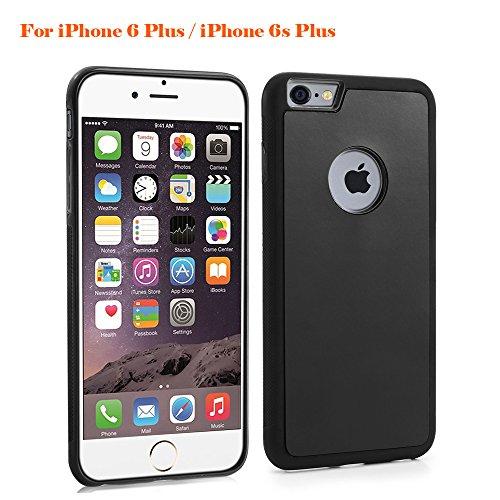 Rubility Case Cover Anti-Gravity aspirazione iPhone 6 plus Iphone 6s plus guscio protettivo in TPU & PC caso ibrido per IPhone 6 plus / 6s plus Nero