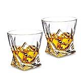 LHLJ Vaso de Whisky Estilo Rocks, Vaso de cóctel Antiguo de Cristal sin Plomo de Primera Calidad para Whisky, escocés o Bourbon, 10 oz, 2 Piezas