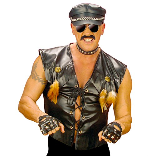 NET TOYS Motard Rocker Veste déguisement Veste de Rocker déguisement de Motard Costume de Rocker Village People Rudi Veste de Motard Mardi Gras XL 54/56