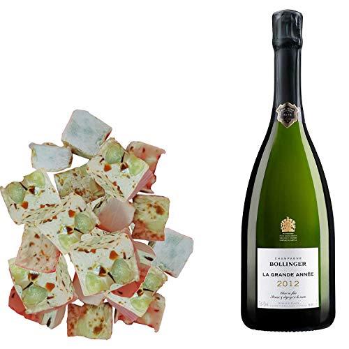 Sortiment Champagner Bollinger - Brut Grande Jahr 2012 & 150 g Karamell-Nougadets - Jonquier Deux Frères