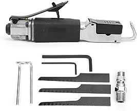 Juego de sierra neumática alternativa, sierra de corte manual de aire con llave hexagonal Hoja de sierra Soporte de hierro para madera, caucho, metal, hierro, etc.