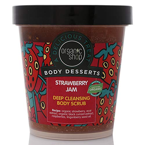 Organic Shop Body Desserts Strawberry Jam Deep Cleansing Body Scrub, 450 ml