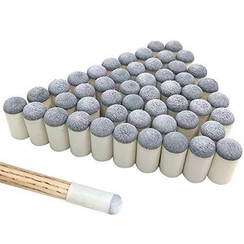 YuCool 50 Stück Queue-Spitzen, zum Überziehen, 13 mm