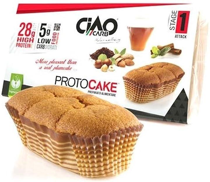 Ciaocarb iaf00073284 protocake, 4 snack da 45 g, nocciola SP136