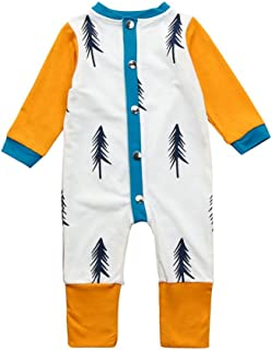 c0c38bb97e Winsummer Toddler Baby Boys Trees Printed Long Sleeve Romper One-Piece  Bodysuit Jumpsuit Outfits