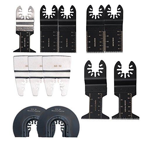 oxoxo 12pc Pro grado Universal oscilante ECut multiherramienta hoja de sierra para Fein Multimaster Makita Genesis Bosch hojas de sierra Craftsman Multi herramientas