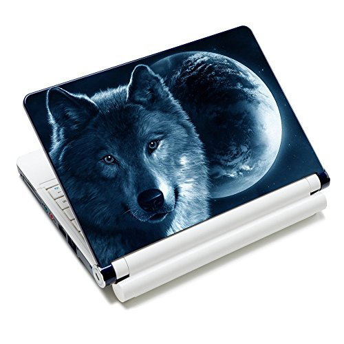 iColor Laptop Skin Sticker Decal Covers 12' 13' 13.3' 14' 15' 15.4' 15.6 inch Laptop Skin Sticker Cover Art Decal Protector Notebook PC (Moon & Wolf)