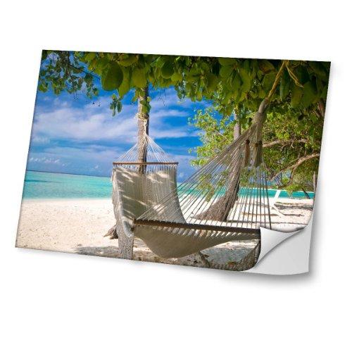 Landschaften 10009, Strand, Skin-Aufkleber Folie Sticker Laptop Vinyl Designfolie Decal mit Ledernachbildung Laminat und Farbig Design für Laptop 11.6