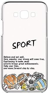Galaxy A8 SCV32 用 スマホケース ハードケース スポーツ ・ホワイト サッカー 野球 バスケ ラグビー テニス SAMSUNG サムスン ギャラクシー エーエイト au スマホカバー 携帯ケース 携帯カバー FFANY spor...