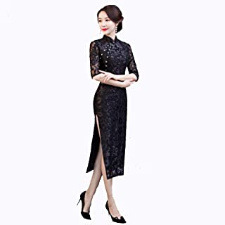 FengZhuo 2019 Large Size Autumn and Winter New Velvet Cheongsam