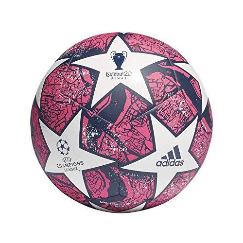 adidas Fin ist CLB Soccer Ball, Men's, White/Pantone/Dark Blue, 5