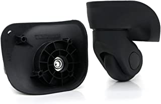 Super Ma Replacement Luggage Wheel Siutcase Repair 360 Spinner Mute Wheels SUPERW041(Couple) (041 Black Small)
