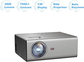 """Portable Projector, WiFi Projectors with Bluetooth, 1080P 4K and 130"""" Display Supported, Compatible with TV Stick, PS4, HDMI/USB/VGA/AV, for Home Theater Gaming Sports (M1 No Android)"""