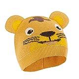 Affenzahn Kindermütze, Beanie für Jungen und Mädchen 1-5 Jahre, Tiger - Gelb, M