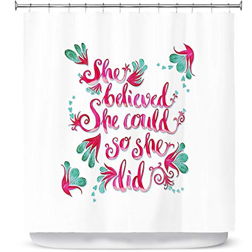 DiaNoche ontwerpen badkamer douchegordijnen door Zara Martina - ze geloofde wit