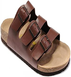 COQUI Kurk Sandalen, Zomer sandalen platte zachthout slippers strandschoenen mannen drie rijen mode casual koude tuning da...