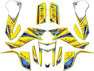 Senge Graphics kit compatible with Suzuki 2003-2008 LTZ 400, Surge Yellow Graphics Kit WITH EXTRA COVERAGE
