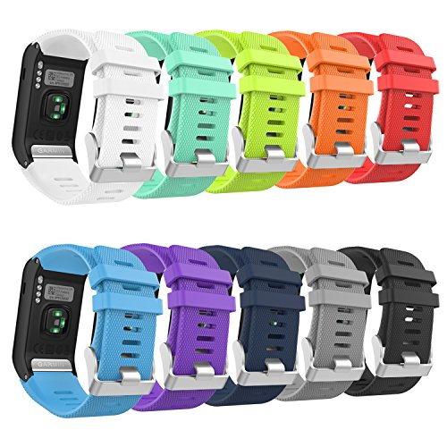 New MoKo Garmin Vivoactive HR Watch Band, [10 Pack] Soft Silicone Replacement Watch Band ONLY for Ga...