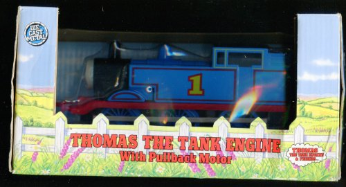 """Rare 1992 Thomas the Tank Engine with Pullback Motor Die Cast Metal Shining Time Station 7"""" Length"""