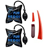 Seven Sparta Car Air Wedge Pump Kit, 2 PCS Air Wedge Bag Leveling Kit & Alignment Tool Inflatable Shim Bag with 3 Tools for Home Use and Auto Repair (Blue)