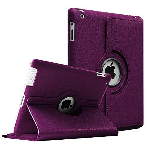 Fintie Hülle für iPad 2 / iPad 3/ iPad 4, 360 Grad verstellbare Schutzhülle Cover mit Standfunktion, Auto Sleep/Wake für iPad mit Retina Display (iPad 4. Generation), iPad 3 & iPad 2, Lila