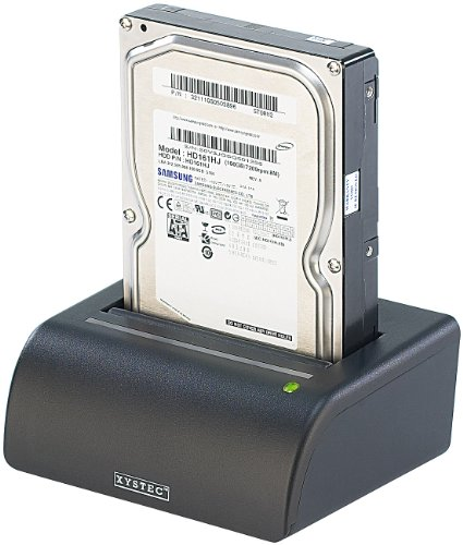 "Xystec HDD Docking Station: USB-Docking-Station für 2,5\""- & 3,5\""-SATA-Festplatten, inkl. Netzteil (Festplatten Dockingstationen)"