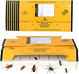 12 Pack Roach Traps, Cockroach Killer Indoor Home Glue Trap Bug Insect Catcher for Crickets Roaches Spiders Beetles