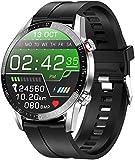 jpantech Smartwatch Reloj Inteligente Mujer Hombre | Llamadas Bluetooth |Pantalla táctil Completa | Monitor de ECG |monitoreo de la frecuencia cardíaca medición de la presión Arterial(Plata)
