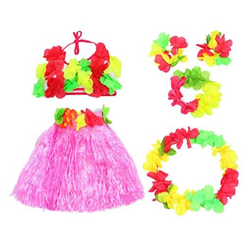 STOBOK 1 juego de 6 piezas de traje de tema hawaiano juego de accesorios de cosplay (tamaño libre) accesorios creativos para fiestas, color rosa