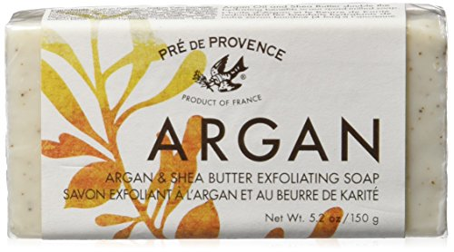 Pre de Provence Argan and Shea Butter Exfoliating Soap, 150 Gram