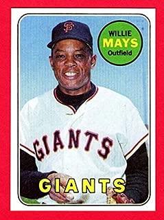 Willie Mays 1969 Topps Baseball Reprint Card (Giants)