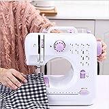 Mini máquina de coser portátil Pequeña computadora de escritorio multifuncióneléctrica doméstica DC Power Foot Pedal LED Máquina de coser, British power