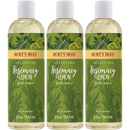 Burt's Bees Body Wash, Rosemary & Lemon, 3 Count