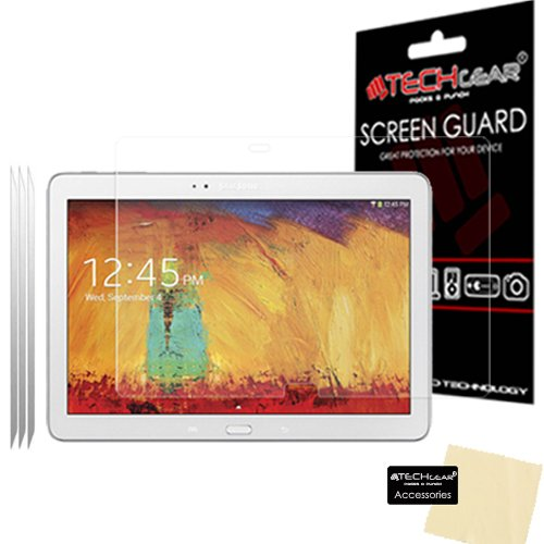 TECHGEAR [3 Stück Displayschutz für Galaxy Note 10.1 2014 SM-P600 P601 P605 - Ultra Klare Schutzfolie für Samsung Galaxy Note 10.1 2014 - mit Reinigungstuch + Applikationskarte